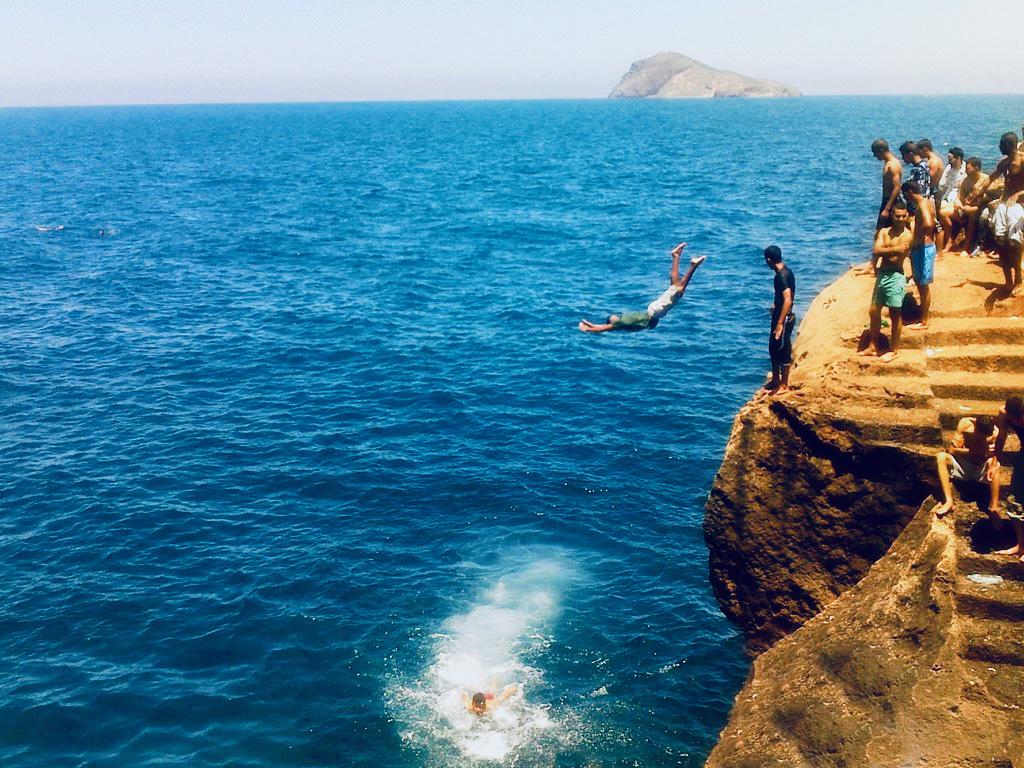 Morocco Mediterranean Beach plage cap de l'eau wild jumps