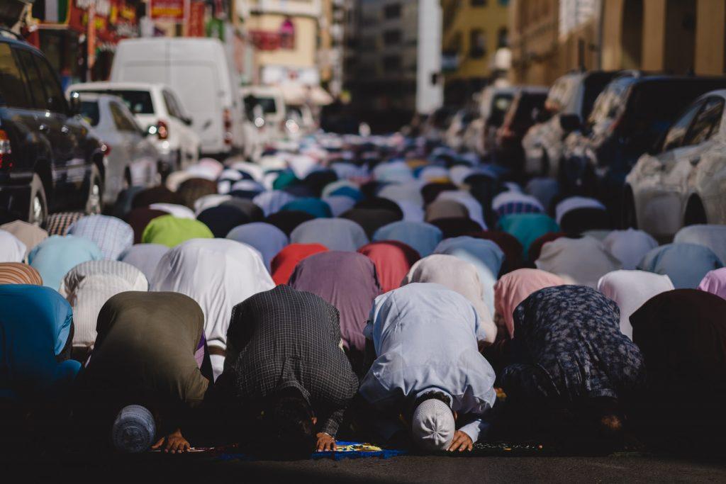 Tangier Morocco Ramadan prayers in the streets